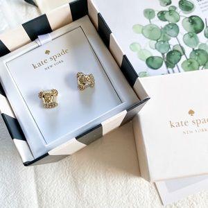 Kate Spade Gold Puppy Stud Earrings